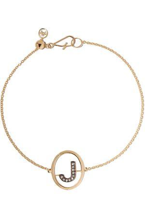 ANNOUSHKA 18kt diamond initial J bracelet - 18ct