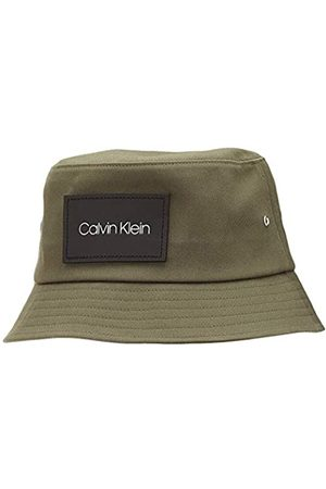 Calvin Klein Men's Leather Patch Bucket Trilby Hat