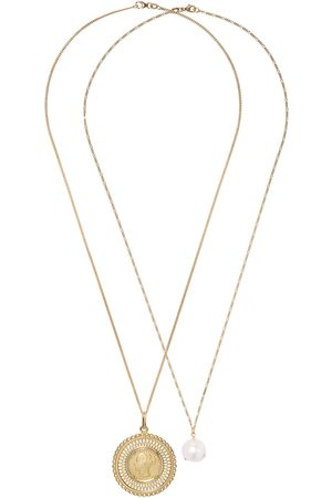 WOUTERS & HENDRIX 18kt pearl and coin pendant necklaces