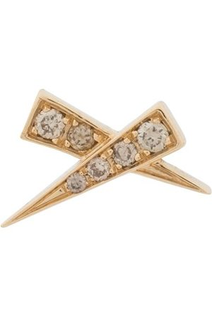 Daou Women Earrings - 18kt yellow Kiss pave diamond earring