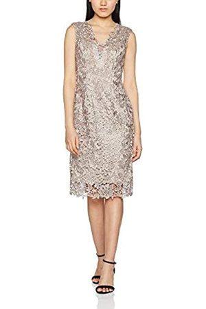 Gina Bacconi Women's Chiffon Scarf and Beaded Neck Lace Dress