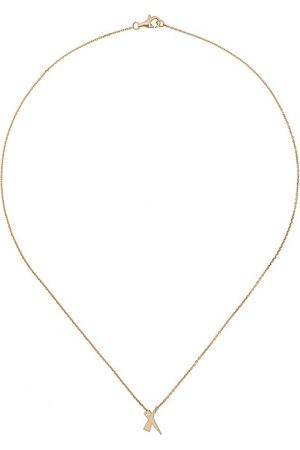 Daou 18kt yellow Kiss diamond pendant necklace