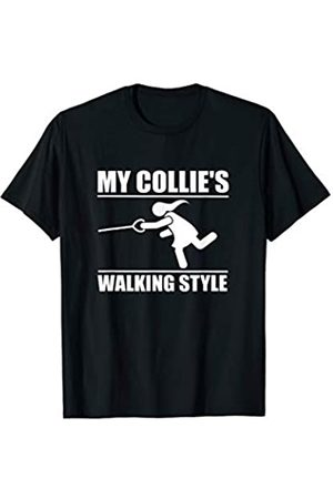 ToonTyphoon Humorous Collie ( Women ) Walking Style T-Shirt