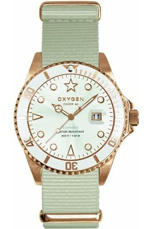 Oxygen Snow 40 Unisex Quartz Watch with Dial Analogue Display and Nylon Strap