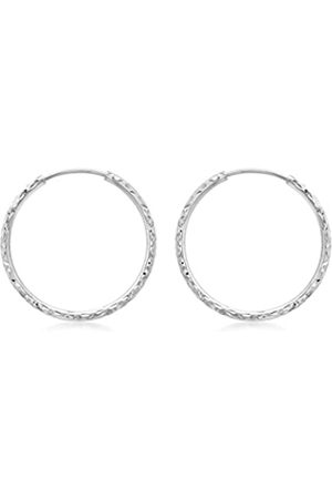 Carissima Gold 9 ct 27 mm Diamond Cut Hoop Earrings