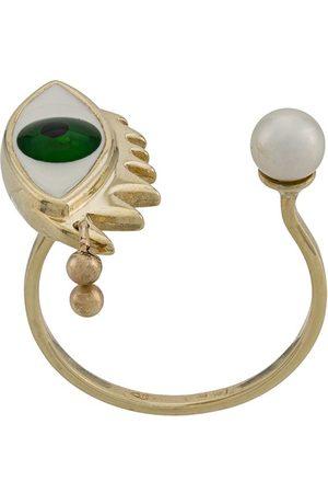 DELFINA DELETTREZ 9kt yellow Eye Piercing ring