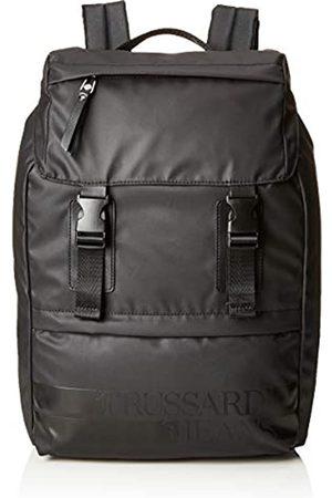 Trussardi Jeans Turati Rubber Nylon Backpack, Men's