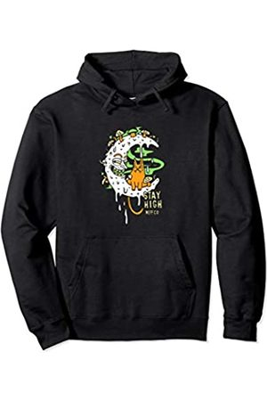 Neff Stay High Grimey Moon and Cat Pullover Hoodie