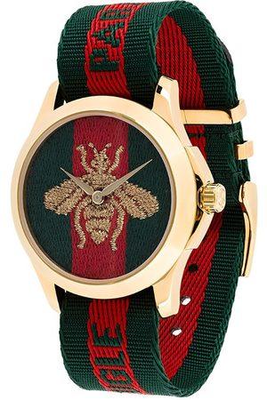 Gucci Men Watches - Bumblebee fabric strap watch