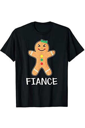 Gingerbread Couple Matching Shirts Gingerbread Fiancee T-Shirt Family Halloween Xmas Pajamas
