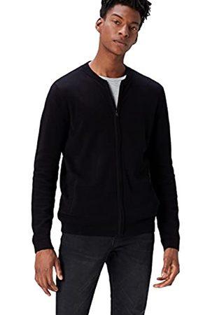 FIND Amazon Brand - Men's Cotton Bomber Cardigan, S