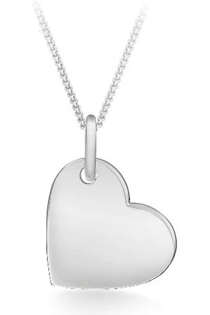 """Tuscany Silver Sterling Polished Heart Pendant on Chain Necklace of 46cm/18"""""""
