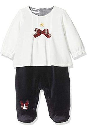 MEK Baby Girls Tutina Ciniglia Bicolore Playsuit