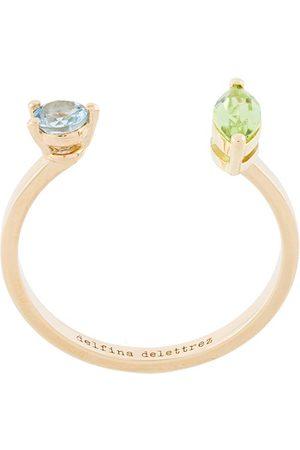 DELFINA DELETTREZ Women Rings - Dots ring - Metallic