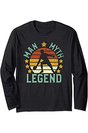Parabolic Dad Ping Pong Man Myth Legend | Vintage Table Tennis Player Gift Long Sleeve T-Shirt