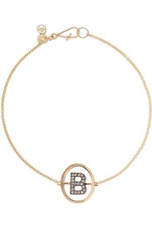 ANNOUSHKA 18kt diamond initial B bracelet - 18ct
