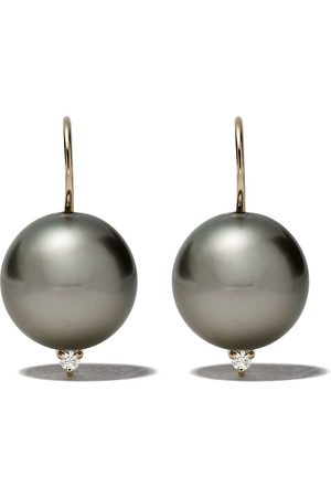 Mizuki 14kt diamond pearl earrings