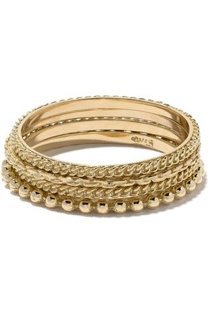 WOUTERS & HENDRIX 18kt gold four rings set - Metallic