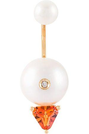 DELFINA DELETTREZ Women Earrings - Trillion' diamond earring - Metallic