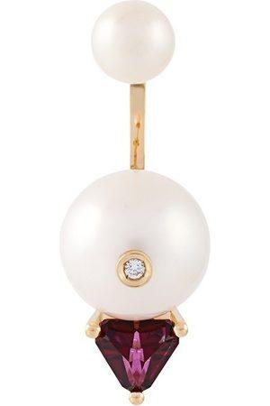 DELFINA DELETTREZ Trillion' diamond earring