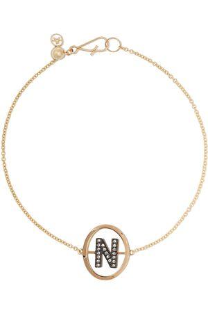 ANNOUSHKA 18kt diamond initial N bracelet - 18ct