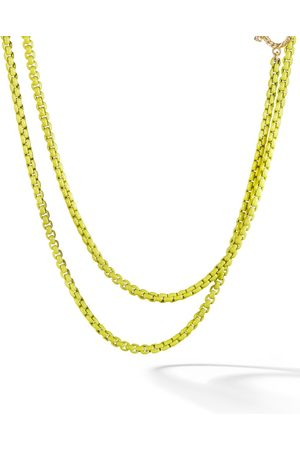 David Yurman 14kt yellow gold accented DY Bel Aire chain necklace - L4YLW