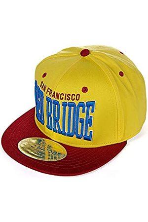 Redbridge Bridge Men's Baseball Cap San Francisco and Bridge Embroidery -Bordeaux