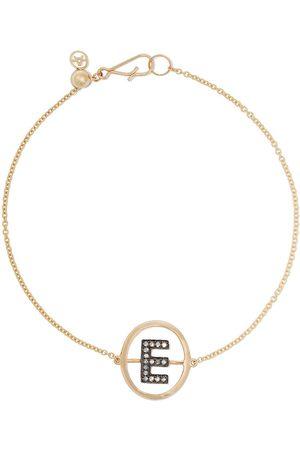 ANNOUSHKA 18kt diamond initial E bracelet - 18ct