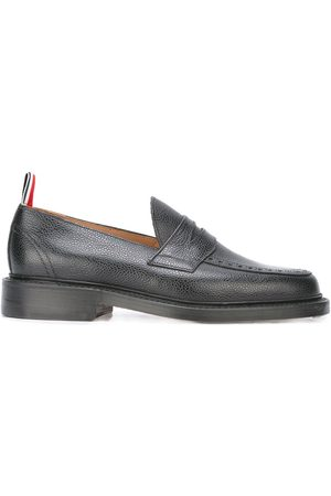 Thom Browne Men Brogues & Loafers - Penny Loafer With Leather Sole In Pebble Grain