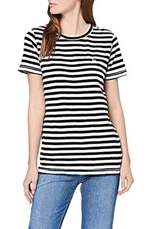 Tommy Hilfiger Women's TJW Textured Stripe TEE Sports Knitwear