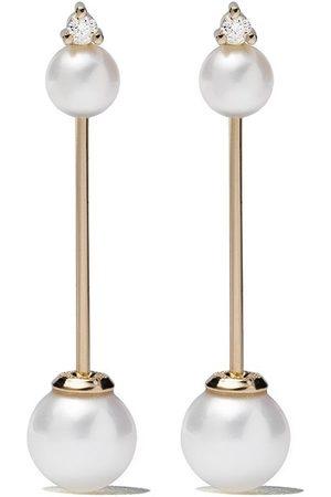 Mizuki 14kt diamond Kanzashi earrings