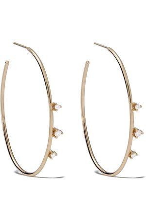 Mizuki 14kt diamond hoop earrings