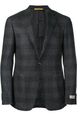 CANALI Single-breasted check blazer