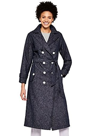 FIND Amazon Brand - Women's Chambray Trench Coat, 16