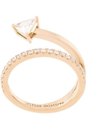 DELFINA DELETTREZ 18kt champagne gold Marry Me diamond ring - Metallic