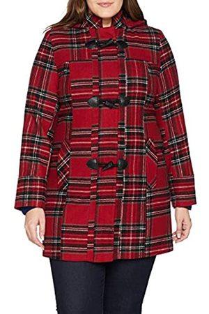 Simply Be Women's Print Duffle Coat, ( Check)