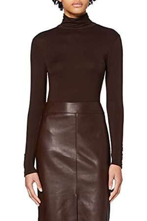 Dorothy Perkins Women's Long Sleeve High Neck Jersey Button Cuff Top Blouse