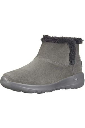 Skechers Women's ON-The-GO Joy-Bundle UP Ankle Boots, (Charcoal Suede Charcoal)