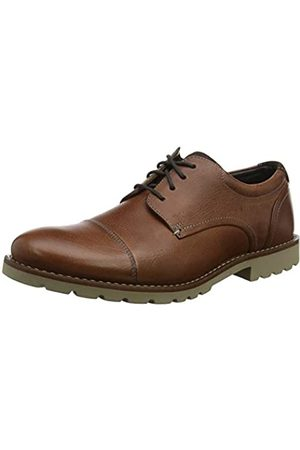 Rockport Men's Sharp & Ready Channer Cap Toe Oxfords, (Cognac /Sd 003)