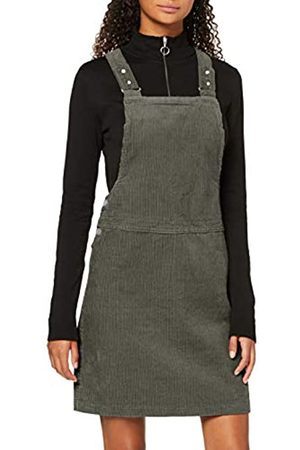 New Look Women's 8W BCI Cord Dungaree Pinny Dress