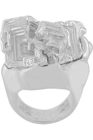Coup De Coeur Vortex Stone ring - Metallic
