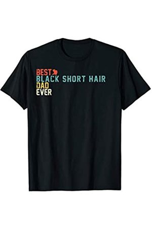 TeeRetro Best BLACK SHORT HAIR Dad Ever Retro Vintage T-Shirt