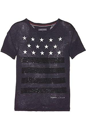 Tommy Hilfiger Girl's H Star Stripe Studs Cn Knit S/s T-Shirt
