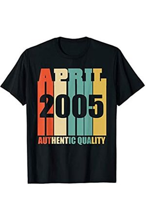 April Birthday Apparel By Blinkz Retro April 2005 T-Shirt Vintage 14th Birthday Gift Shirt