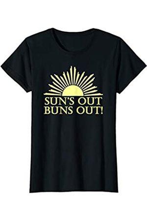 Suns Out Buns Out Gear Womens Suns Out Buns Out - Funny Swimsuit Thong Bikini Cover Up T-Shirt