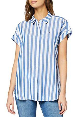 Tommy Hilfiger Women's TJW Stripe ROLL UP Shirt Sports