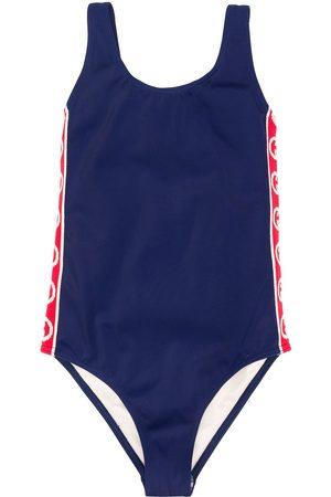 Gucci Appliqué stripe swimsuit