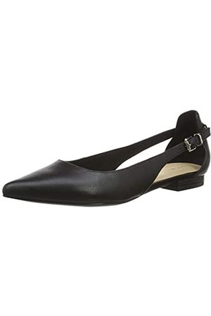 Tommy Hilfiger Women's Feminine Leather Ballerina Closed-Toe Pumps, ( Bds)