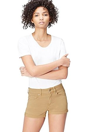 FIND Women's Shorts in Soft Stretch Denim Low Rise with Rolled Cuffs