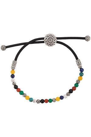 John Hardy Men Bracelets - Silver Classic Chain Mixed Stone Bead Pull Through Bracelet